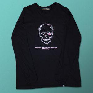 Skull Long Sleeved Tee Black