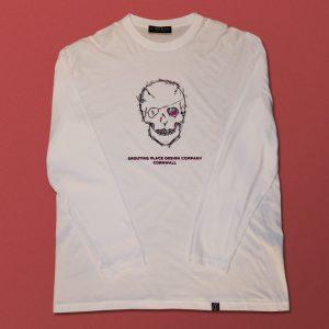 Skull Long Sleeved Tee White